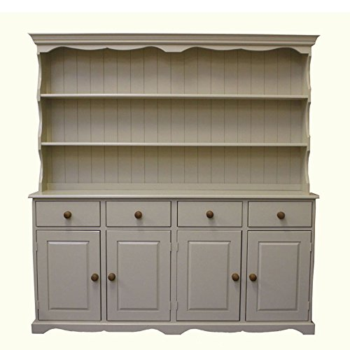 Wye Pine Cottage Painted Welsh Dresser - Distressed - Colour: White