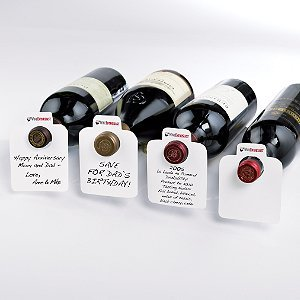 Wine Enthusiast 100 Count Oversized Reusable Wine Bottle Tags
