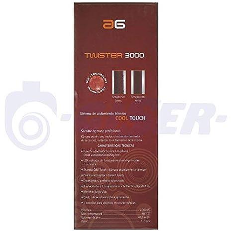 Asuer Group Secador de pelo Twister 3800 Ionic 2100W - Profesional iónico turmalina cerámica, color negro - Incluye difusor y 2 boquillas   3.000.000 ...
