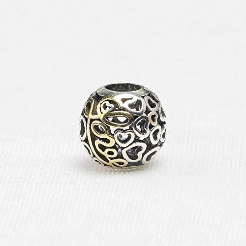 Calvas Authentic 925 Sterling Silver Bead Charm Hollow Heart Love Vintage European Beads Fit Bracelets DIY Jewelry 2018