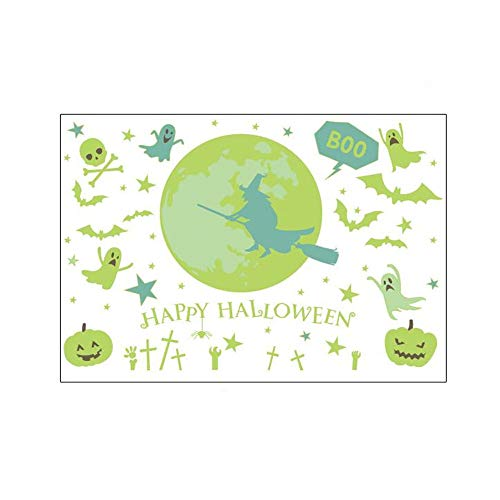 ARAYACY Children's Fluorescent Stickers Luminous Halloween Witch Stickers/DIY Free Stickers Light Paper Wall Stickers