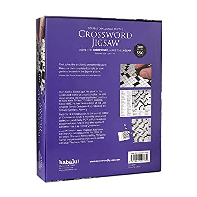 Crossword Jigsaw Puzzle 3rd Edition - 550 Piece 2-in-1 Puzzle Game for Adults: Toys & Games