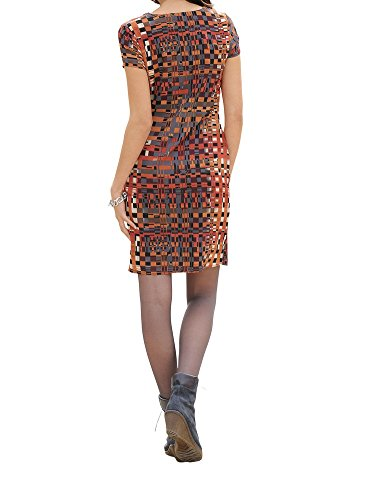 Kleid 40 GR AM GR Wickeloptik Karo Marken in Multicolor 0417614842 42 Bx7HEq