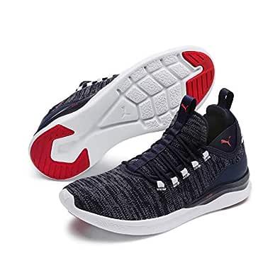 PUMA Men's Ignite Flash Daunt Sneaker, Peacoat-high Risk Red, 7 US