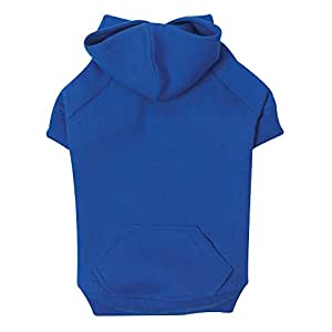 """Zack & Zoey Basic Hoodie for Dogs, 8"""" X-Small, Nautical Blue"""
