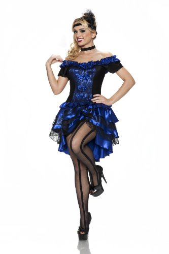 Delicious of NY Women's Plus-Size Dance Hall Queen Costume, Sapphire 3X/4X