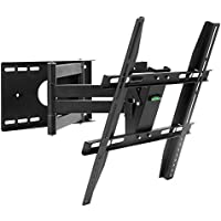 Henxlco Full Motion Articulating Tilt Swivel TV Wall Mount Bracket for most 26 29 32 37 39 40 42 47 50 inch Flat Screen Panel Plasma LED LCD TVs , some up to 52 53 55 inch, VESA up to 400X 400mm