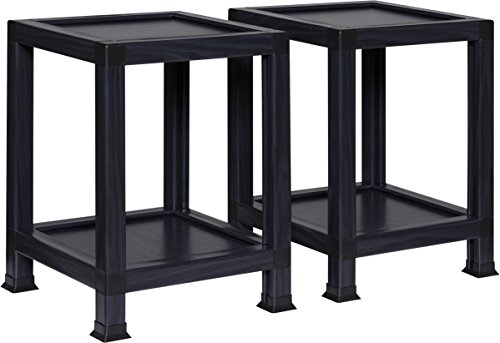 OneSpace 100% Recycled Paper End Tables, Black (Set of 2) (Table Simple End)