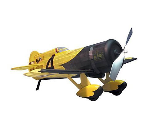 Gee Bee Racer - Gee Bee Z Racer Rubber Pwd Wooden Model Airplane by Dumas