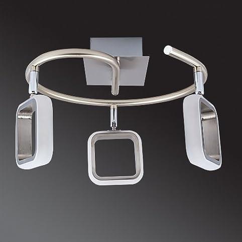 Lu MiR LED Deckenleuchte Deckenlampe Leuchte Designleuchte Wohnzimmer Kuche Strahler Deck Kvader