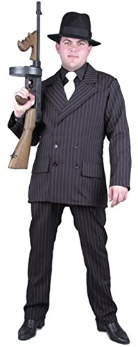 BOS Adult Black/White Gangster Suit Costume Size: X-Small]()