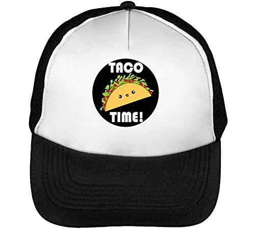 Taco Gorras Hombre Snapback Beisbol Negro Blanco