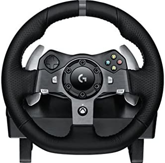 Logitech 941-000122 Ruedas + Pedales PC,Xbox One Negro mando y ...