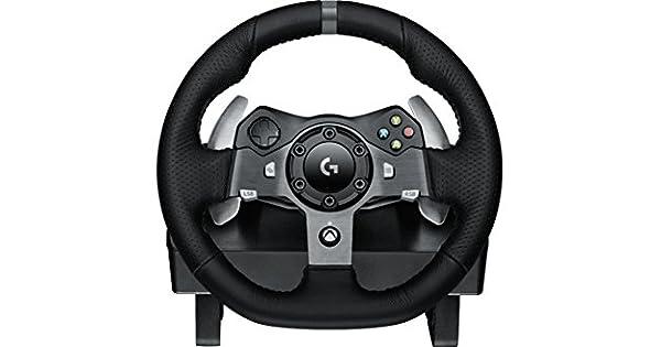 Logitech 941-000122 Ruedas + Pedales PC,Xbox One Negro mando y volante - Volante/mando (Steering wheel + Pedals, PC, Xbox One, Digital, Atrás, Hogar, Menú, Inicio, Alámbrico, USB): Amazon.es: Videojuegos