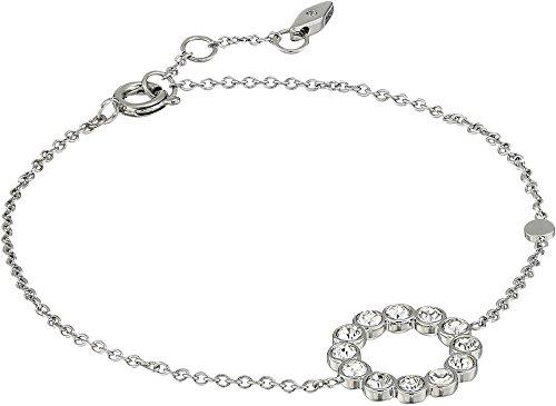 Bezel Bracelet, Silver tone (Bezel Circle Bracelet)