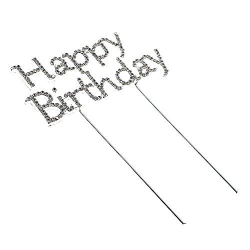 """HuaYang Crystal Rhinestone Shiny Sparkle """"Happy Birthday"""""""