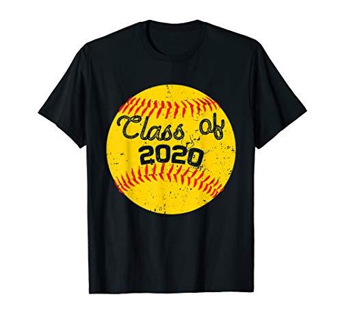 Class of 2020 Shirt Graduation Softball TShirt Gift