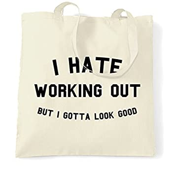 5a96a13d459388 Canvas Tote Bag I Hate Working Out But I Gotta Look Good Gym Workout Fitness  Funny