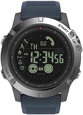 Zeblaze Vibe 3 Smartwatch Hillrong Pulsera Inteligente Bluetooth para iOS y Android, Podómetro para Deportes y Aire Libre (Azul)