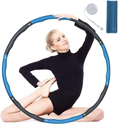 8 Teile Hula Hoop Reifen Fitness 1kg 90cm Fat Kid Erwachsene Kinder Schaumstoff