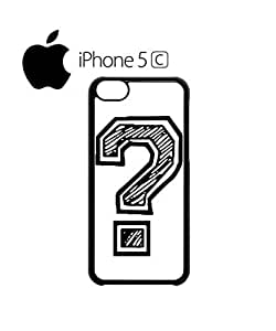 LJF phone case Question Mark Geek Nerd Mobile Cell Phone Case Cover iphone 4/4s Black