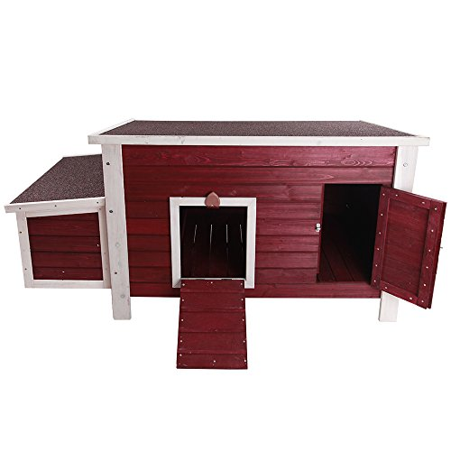 Petsfit Weatherproof Outdoor Chicken Coop with Nesting Box, Bottom Can be Removed for Easy Cleaning,...