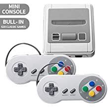 Effleda Retro Game Consoles, Mini Classic Video Game Console Built-in 620 TV Video Games with Double Controllers for Children,Adults Birthday Gift (SNES 620)