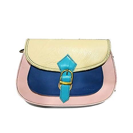 Cuero Bolso Bandolera Soruka Mujer Reciclado Azul Rosa thQdsr