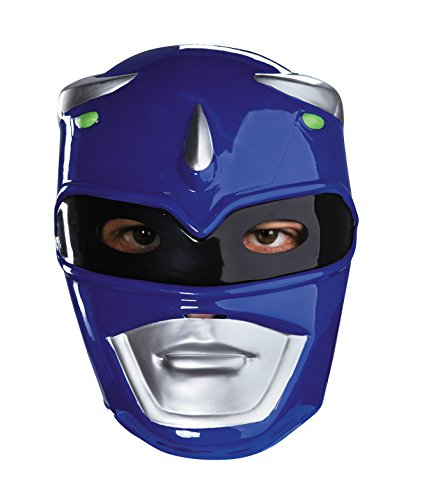 Blue Mask Costume (Blue Ranger Vacuform Costume Mask,Blue/Silver/Black,One Size Adult)