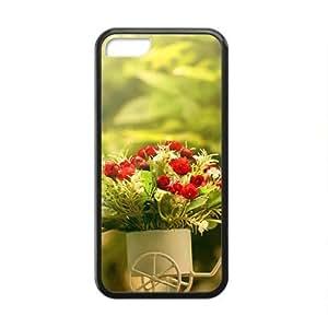 Fashion PC Iphone 5C- Happy Lilac Flowers Cover(3D PC Soft Case)