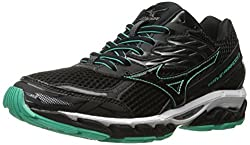 Mizuno Women's Wave Paradox 3 Running Shoe, Black-electric Green, 8.5 B Us