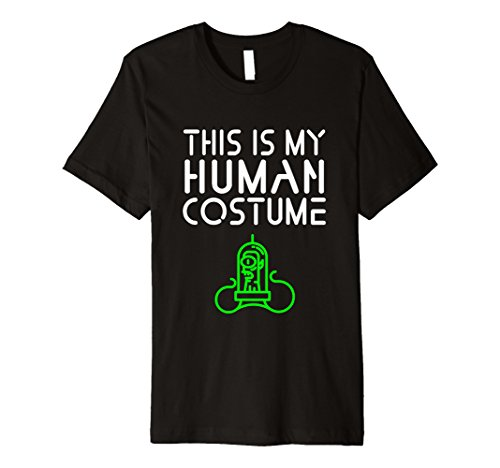 Mens This is My Human Costume - Alien Halloween T-Shirt Medium (Extraterrestrial Costume)
