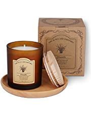 Homemory Citronella Scented Candles, Made with Essential Oils, Pure Soy Wax, Beeswax, Candles for House, Patio, Garden, Camping, Outdoor and Indoor Use, 9.2oz 65 Hours Burn