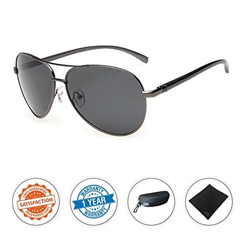 J+S Premium Ultra Sleek, Military Style, Sports Aviator Sunglasses, Polarized, 100% UV protection