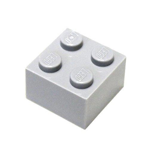 (LEGO Parts and Pieces: 2x2 Light Gray (Medium Stone Grey) Brick x200 )