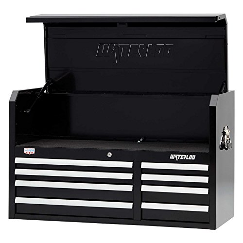 """Waterloo W500 Series 8-Drawer Tool Chest with Open-Till Design and Patented Posi-latch Drawer Latching system, 41"""" Wide"""