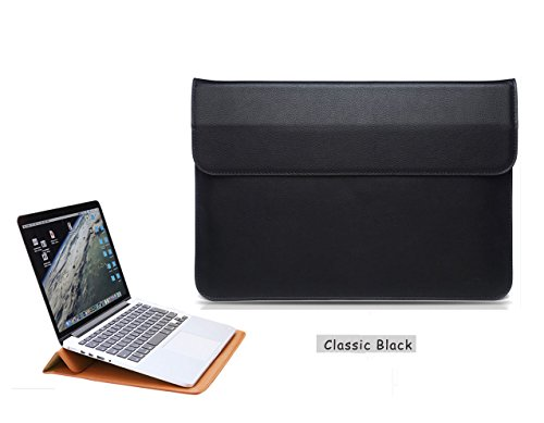 GASIN 13 inch Laptop Case, PU Leather Laptop Protective Sleeves Notebook Cover Bag for Macbook 13'' Retina ,Asus,Apple,Samsung,Dell,Lenove (Black)