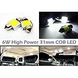 LEDIN 2x High Power COB LED Engine Compartment Light DE3022 DE3175 Festoon 31mm Bulb White 6W