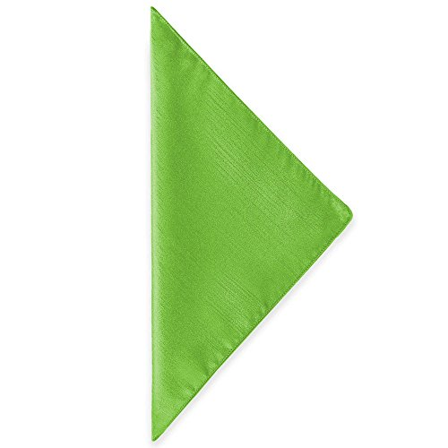 Ultimate Textile (100 Dozen) Reversible Shantung Satin - Majestic 10 x 10-Inch Cloth Cocktail Napkins - for Weddings, Home Parties and Special Event use, Lime Green by Ultimate Textile