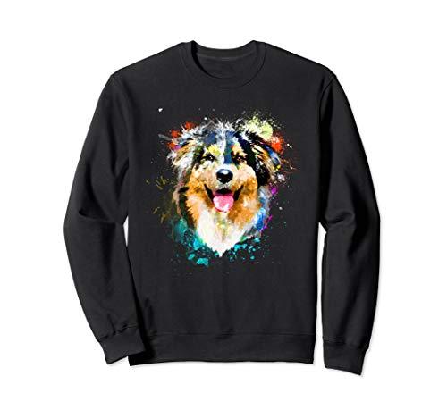 Splash Art Australian Shepherd Aussie Dog -
