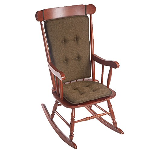 - Klear Vu Embrace Rocking Chair Pads Set, Seat: 16L x 17.5W x 2H inches,Back: 25 x 20 inches, Chocolate