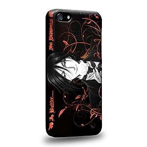 Case88 Premium Designs Black Butler Sebastian Michaelis Demon Butler 1511 Protective Snap-on Hard Back Case Cover for Apple iPhone 5C