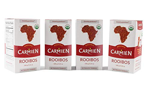 Carmién Natural Rooibos Tea Organic – South African Red Tea – Healthy Herbal Tea, 4 x 40 Teabags