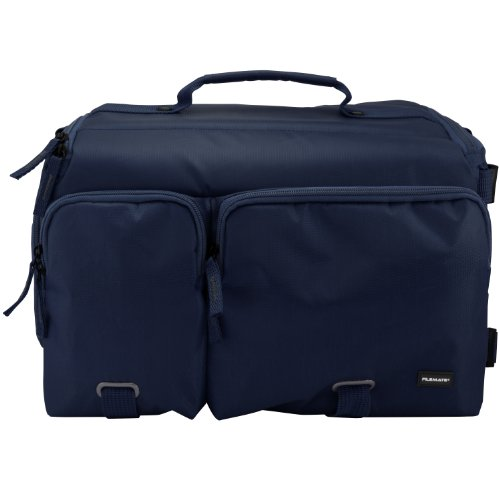 Filemate 3FMCG230NV3-R ECO Professional SLR Camera Bag with Two Front Pockets (Navy Blue)