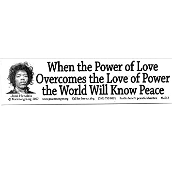 Amazoncom Peacemonger When The Power Of Love Overcomes The Love Of