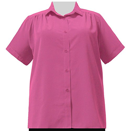 A Personal Touch Women's Plus Size Pink Button-Down Tunic - 1X