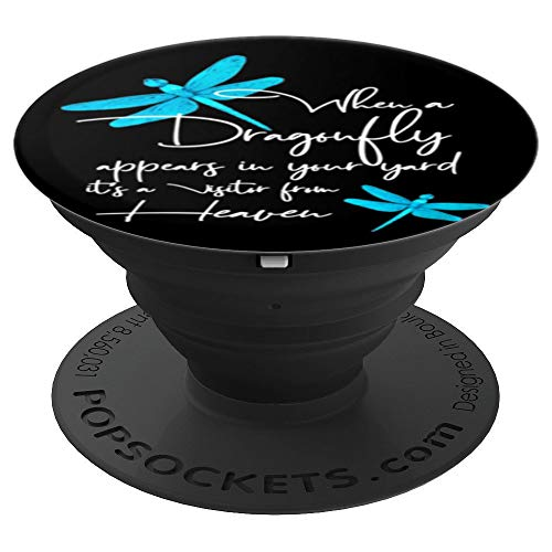 Faith Dragonfly PopSocket for Dragonflies lovers - PopSockets Grip and Stand for Phones and Tablets