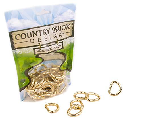 (25 - Country Brook Design | 3/4 Inch Brass Plated Heavy Welded D-Rings)