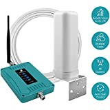 5-Band Cell Phone Signal Booster for Home and Office - Boost Voice, 3G and 4G LTE Data for All Carriers - 700/850/1700/1900MHz Cellular Repeater Kit with Omni-Directional Antennas