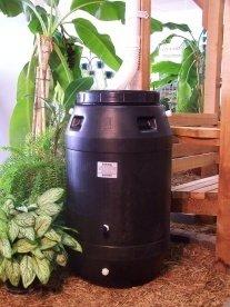 Aunt Molly's 60 Gallon Black Plastic Rain Barrel ()